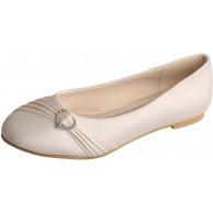 Charmstep MW925 Frauen Flach Ballerinas Geschlossene Zehen Strass Satin Party Flache Hochzeit Brautschuhe Schuhe & Handtaschen