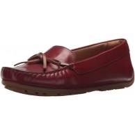 Clarks Damen Dameo Swing Driving-Stil Loafer Rotes Leder 38 EU Schuhe & Handtaschen