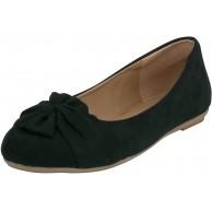 Fitters Footwear That Fits Damen Ballerina Maike Microfibre Mikrofaser Ballerinas mit Schleife Übergröße EU Schuhe & Handtaschen