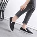 Frauen Segeltuchschuhe Frühling Sommer Normallack-Beleg auf schwarzen weichen Plattform-Schuhen weiblicher Freizeit-Flacher Müßiggänger im Freien Schuhe & Handtaschen