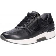 Gabor Damen Low Top Sneaker low Frauen Schnürhalbschuhe Wechselfußbett keil-absatz halbschuh schnürschuh strassenschuh wedge schwarz 42 EU 8 UK Schuhe & Handtaschen