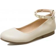 Garggi Damen Ballet Flats Knöchelriemchen Dolly Schuhe Closed Toe Ballerina Mary Jane Schuhe Schuhe & Handtaschen
