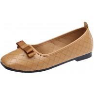 Generic11 Damen Flache Freizeitschuhe Freizeit Mode Frühling Sommer PU Fliege Mokassin Schuhe rutschfeste weiche Sohle Low Heel Loafers Schuhe Schuhe & Handtaschen