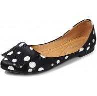 LYXIANG Frauen Ballerinas Dolly Schuhe Flach Lässig Täglich Allgleiche Einzelschuhe Weiche Sohlenschuhe Für Mütter Geeignet Schuhe Für Mütter Geeignet Schwarz 46 Schuhe & Handtaschen