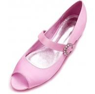MNVOA Flache Schuhe Satin Peep Toe Strass Pumps Damen Hochzeitsschuhe Schuhe & Handtaschen