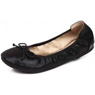 Sydowey Damen Faltbare tragbare Pumps Fliege Flats Ballettschuhe mit Tragetasche Schuhe & Handtaschen