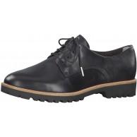 Tamaris Damen Schnürhalbschuhe 23208-24 Frauen Businessschuh Halbschuh schnürschuh schnürer klassisch elegant Black Leather 36 EU 3.5 UK Schuhe & Handtaschen