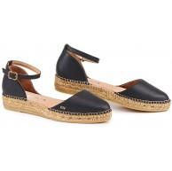 VISCATA Handgefertigt in Spanien Conca Ledersandale Knöchelriemen geschlossener Zehenbereich Espadrilles flache Schuhe Schuhe & Handtaschen