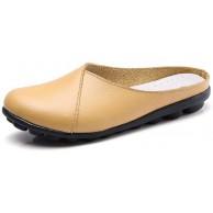 WODETIAN Damen Mokassin Slipper Sommer Leder Sandale Sommer Schuhe Mädchen Comfort Driving Schuhe Flache Bootsschuhe Bequeme Weiche Erbsenschuhe Flatschuhe Slippers Schuhe & Handtaschen