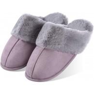 Artyton Hausschuhe Slippers Baumwolle Pantoffeln mit Plüsch Rutschfest Winter Indoor für Damen Pink 38 EU Schuhe & Handtaschen