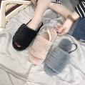 Aupast Plüschpantoffeln Plüsch Pantoffeln Rutschfester Warm Hausschuh Mit Elastischem Riemen Und Plüschfutter Damen Slipper Schuhe & Handtaschen