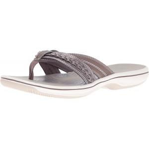 Clarks Brinkley Nora Flip-Flops für Damen Zinnfarben 37 EU Schuhe & Handtaschen