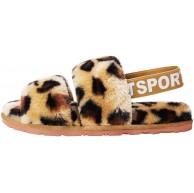 Cooleader Frauen Pelz Pelz Hausschuhe Plüsch Gemütliche Outdoor Indoor Sandalen Fluffy Slides Schuhe mit elastischen Riemen Schuhe & Handtaschen