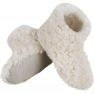 FakeFace Damen Hausschuhe Hüttenschuh Hohe Gefüttert Hüttenstiefel Rutschfest Stiefel Winter Pantoffeln Slipper für Damen Mädchen BEIGE Schlafzimmer Haus Indoor Schuhe & Handtaschen