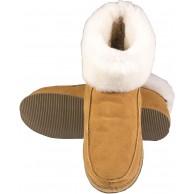 Hausschuhe für Damen und Herren für den Winter geschlossen warme Hausschuhe aus Leder. Schuhe & Handtaschen