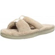 Isotoner Damen Signature X-Slide Slipper Satin Trim mit Memory Foam Schuhe & Handtaschen