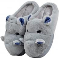 LANFIRE Kinder und Erwachsene Baumwolle Hausschuhe Nilpferd Haus Hausschuhe Plüsch Hausschuhe Tier Hausschuhe Schuhe & Handtaschen