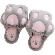 LUOEM Hausschuhe aus Plüsch für den Winter weich warm rutschfest - hellgrau - Größe 35 36 EU Schuhe & Handtaschen