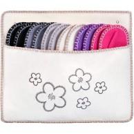 ONVAYA ABS Gästehausschuhe Blumen | Creme | 6er Set | Antirutsch | Gästepantoffel | Hausschuhe | aus Filz Schuhe & Handtaschen