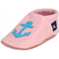 Pantau IT'S A SMALL WORLD Krabbelschuhe & Lederpuschen mit Anker Leder Hausschuhe für Kinder & Erwachsene 100% Leder Handarbeit Schuhe & Handtaschen