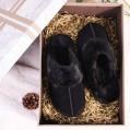 VeraCosy Damen Hübsche Leder Hausschuhe warme Fell Pantoffeln mit Memory Foam Schuhe & Handtaschen