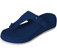 Zller2587 Modische Flip-Flops FüR Damen Bequeme Weiche Hausschuhe Flip-Flop-Plattform-Keilpantoffeln FüR Damen Summer Beach-Hausschuhe FüR Damen 37 Blue Schuhe & Handtaschen