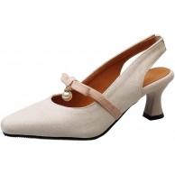 BeiaMina Damen Mode Mid Absatz Pumps Schuhe & Handtaschen