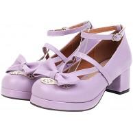 Birdsight Damen Rockabilly Pumps mit Blockabsatz und Riemchen Schleife Shoes Schuhe & Handtaschen
