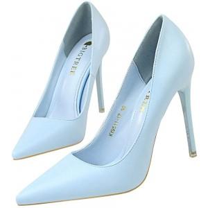 Damen Mode Spitze Pumps Mit Pfennigabsatz Lack Zu Arbeiten Leben 10.5CM 7.5CM Optional Schuhe & Handtaschen