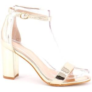 King Of Shoes Damen Riemchen Sandaletten mit Blockabsatz Schuhe & Handtaschen