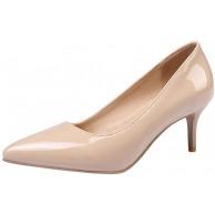 Mediffen Damen Party Kitten Heel Pointed Toe Elegant Kleid Pumps Schuhe & Handtaschen