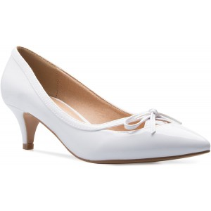 OLIVIA K Damen-Pumpe klassisch geschlossener Zehenbereich Kätzchen-Fersenpumpe Kleid Arbeit Party Mittelabsatz Schuhe & Handtaschen