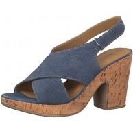 Tamaris Damen Sandaletten Nina 1-1-28364-22-820 blau 604297 Schuhe & Handtaschen