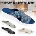 AGGF Damen Stretch Cross Kieferorthopädische Slide Sandalen Sandalen Casual Beach Slip On Komfort und Support Sandalen Schuhe & Handtaschen