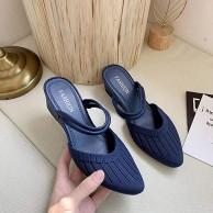 AGGF Flat Slider Sandalen Ladies Slip Frauen mit halben Hausschuhen und Hangabsatz-Khaki_40 Bequeme Flache Wandersandalen für Damen Schuhe & Handtaschen