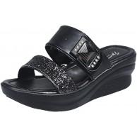 Damen Slingback Peep Toe Slip On Keilsandalen mit Strass Dicke Sohle Plateau Beach Strandsandalen Sommer Outdoor Sandals Schuhe & Handtaschen