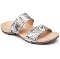 Vionic Women's Rest Randi Slide Sandal - Adjustable Sandals with Concealed Orthotic Arch Support Silver Boa 11 Medium US Schuhe & Handtaschen
