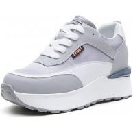 AONEGOLD Sneaker mit Keilabsatz Damen Bequeme Atmungsaktiv Wedges Sportschuhe Leicht Turnschuhe Mode Plateau Freizeitschuhe Schuhe & Handtaschen