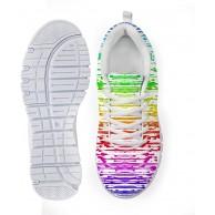 AXGM Damen Laufschuhe Turnschuhe Straßenlaufschuhe Schuhe Air Masche Sport Sneakers Bunte Graffiti-Regenbogen Linien Druck Sommer Mode Schnürer Fitness Atmungsaktiv Sportschuhe Schuhe & Handtaschen
