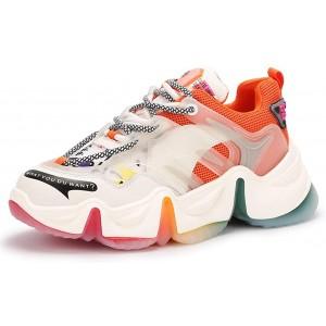 Frauen Frühling Herbst Clunky Sneakers Schnürplattform Mesh Sneakers Casual Sportschuhe Outdoor Athletic Trainer Schuhe Schuhe & Handtaschen