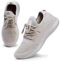 HKR Laufschuhe Damen Sneaker Atmungsaktiv Sportschuhe Turnschuhe Fitnessschuhe Straßenlaufschuhe Outdoor Elfenbein 36 EU Schuhe & Handtaschen