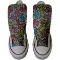 MYS Sneaker & Sportschuhe USA - Base Print Vintage 1200dpi - Italian Style - Hi Customized personalisierte Schuhe Handwerk Schuhe Leben stilizzato TG43 Schuhe & Handtaschen
