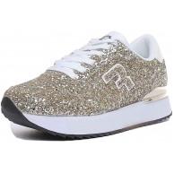 REPLAY Halen Platin Sportschuh für Damen Glitzer Platinum Schuhe & Handtaschen
