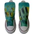 Sneaker & Sportschuhe USA - Base Print Vintage 1200dpi - Italian Style - Hi Customized personalisierte Schuhe Handwerk Schuhe Bunte Fische Schuhe & Handtaschen