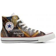 Sneaker & Sportschuhe USA - Base Print Vintage 1200dpi - Italian Style - Hi Customized personalisierte Schuhe Handwerk Schuhe Urlo di Munch Size 46 EU Schuhe & Handtaschen