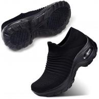 STQ Damen Schuhe Slip On Sneakers Freizeit Atmungsaktive Fitness Turnschuhe Plattform Air Leichte Outdoor Walking Schuhe Schuhe & Handtaschen