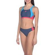 ARENA Damen Sport Bikini Ren Shark-Turquoise-Freak Rose 40 Bekleidung