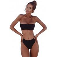 Bikini für Mollige Covermason Bikini Damen Set Push Up Bademode Grosse Grössen Zweiteilige Neckholder Bikini High Waist Bikinihose Split Badeanzug Brazilian Strandkleidung Bekleidung