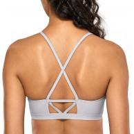 CRZ YOGA Damen-Bikini mit Hohem Kragen Abnehmbare und Weiche Pads Badeanzug Bekleidung