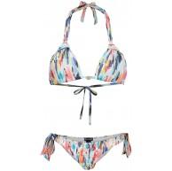 Emporio Armani Swimwear Damen Triangle Rem.Cups+Brazilian W Bows Beachwear Color Pop Bikini-Set Bekleidung